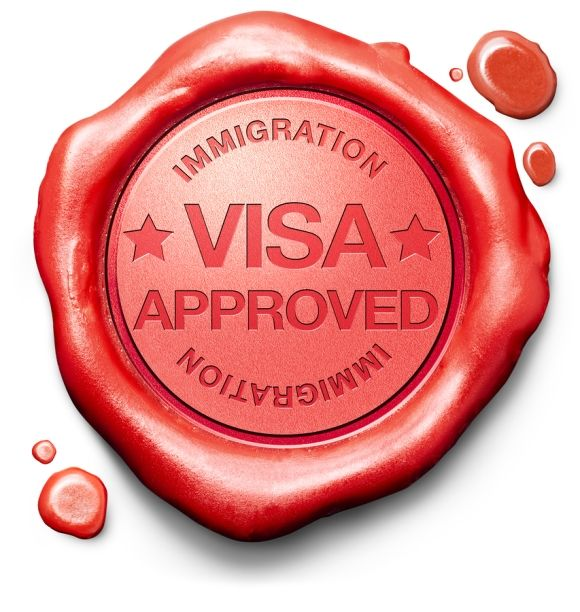 Visa Approved Wax Stamp
